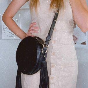 Cross body tassel bag